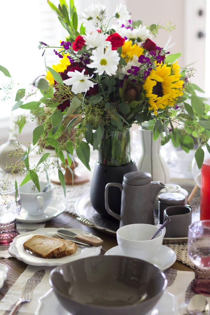 Charcoal Tableware Bohemian Table Setting