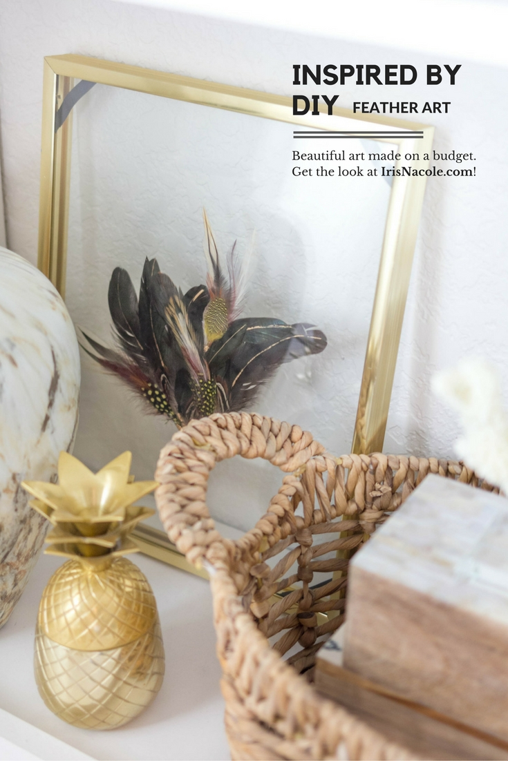 Inspired By DIY (West Elm) Bohemian Feather Art