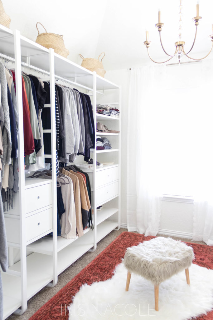 A Bohemian Boutique Style Walk In Closet Makeover By IrisNacole.com