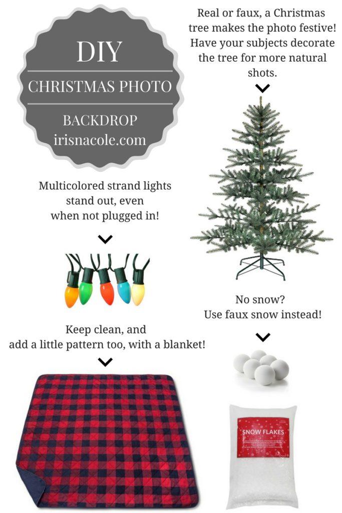 Diy Christmas Photo Backdrop Idea Iris Nacole