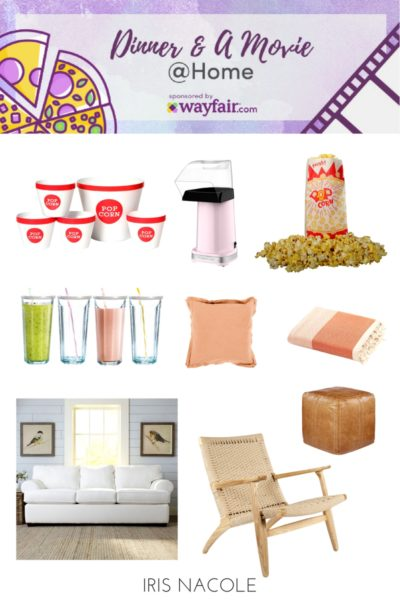 Dinner & A Movie at Home with Wayfair.com