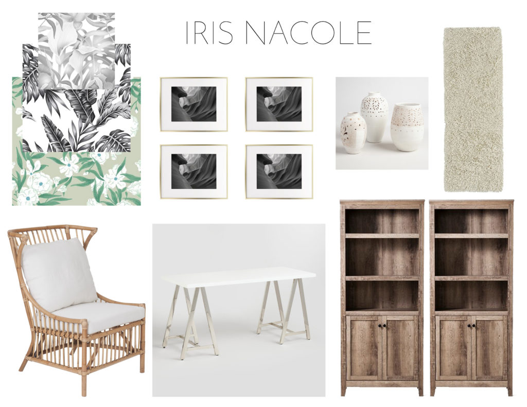 Home Office Makeover-Mood Board-IrisNacole.com