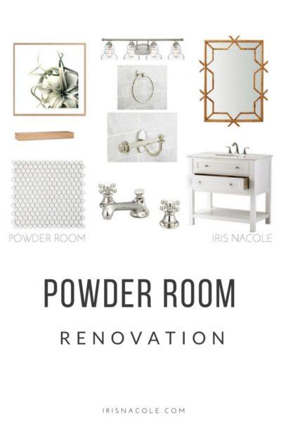 A Beachy White Powder Room Remodel