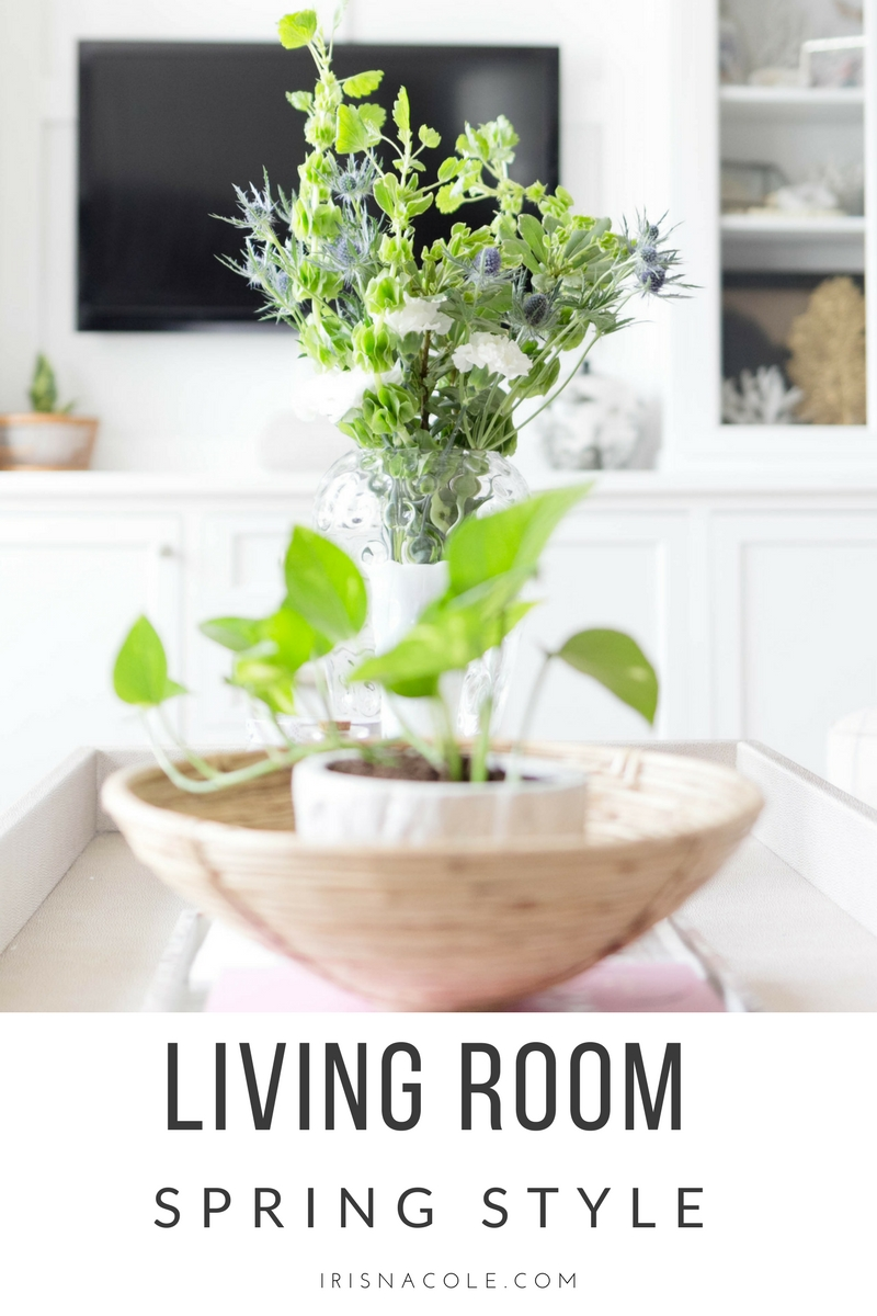 Refined-Vintage Living Room Spring Styling-IrisNacole.com