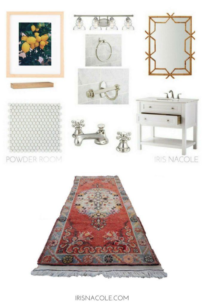 Powder Room Design-IRISNACOLE.COM
