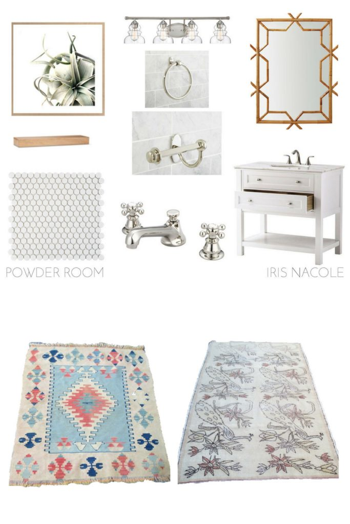 With Patterend Textiles Powder Room Makeover Iris Nacole