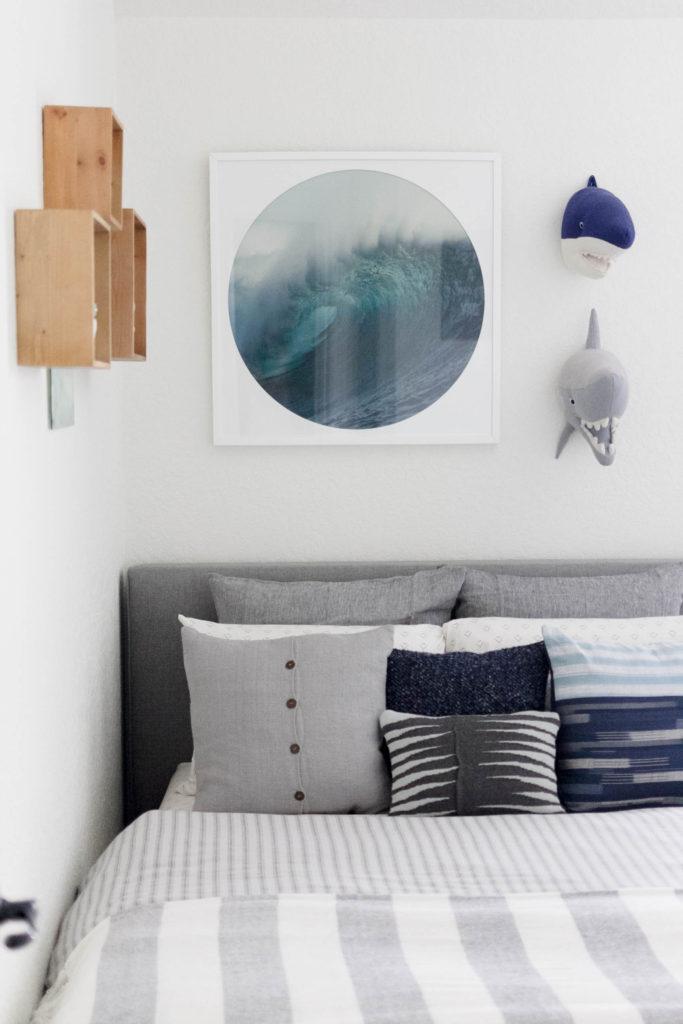 Modern Beach-Big Boy Bedroom-Makeover-Home Makeover-Kids Bedroom Inspiration-Platform Bed-IrisNacole.com