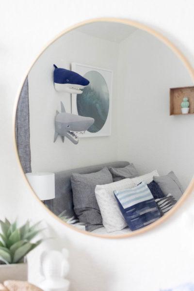 Modern Beach-Big Boy Bedroom-Makeover-Home Makeover-Kids Bedroom Inspiration-Mirror-IrisNacole.com