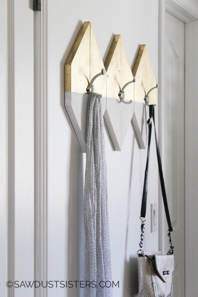 Sawdust Sisters Modern Wall Hooks Tutorial
