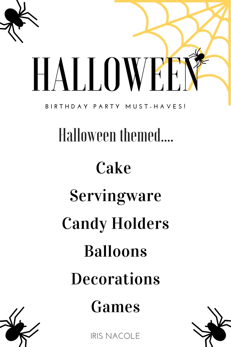 Halloween Themed Birthday Party Must-Haves by IrisNacole.com