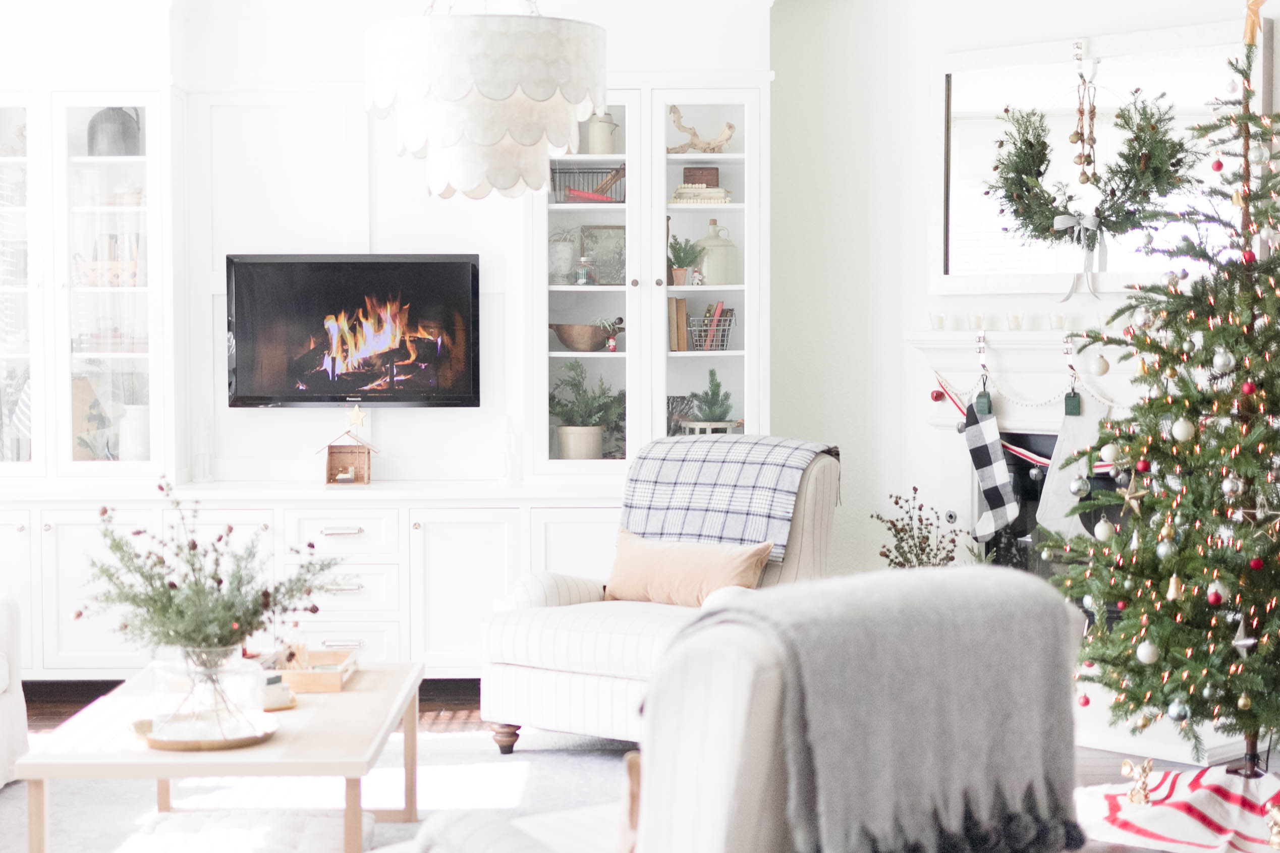 Christmas/Holiday Decorating Living Room by Iris Nacole