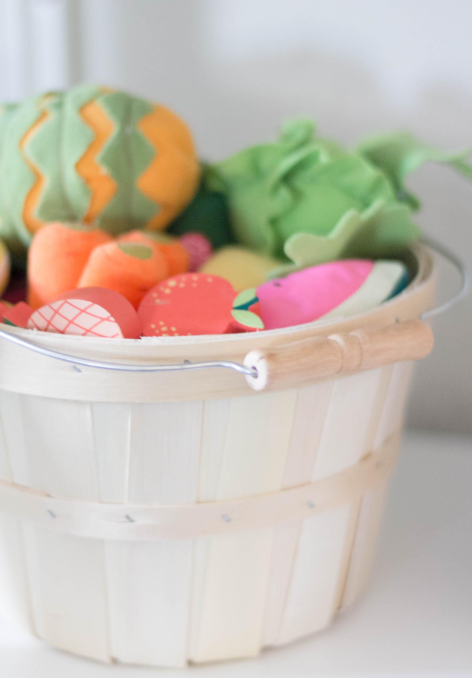 Playroom Grocery Store Basket Storage-IrisNacole.com