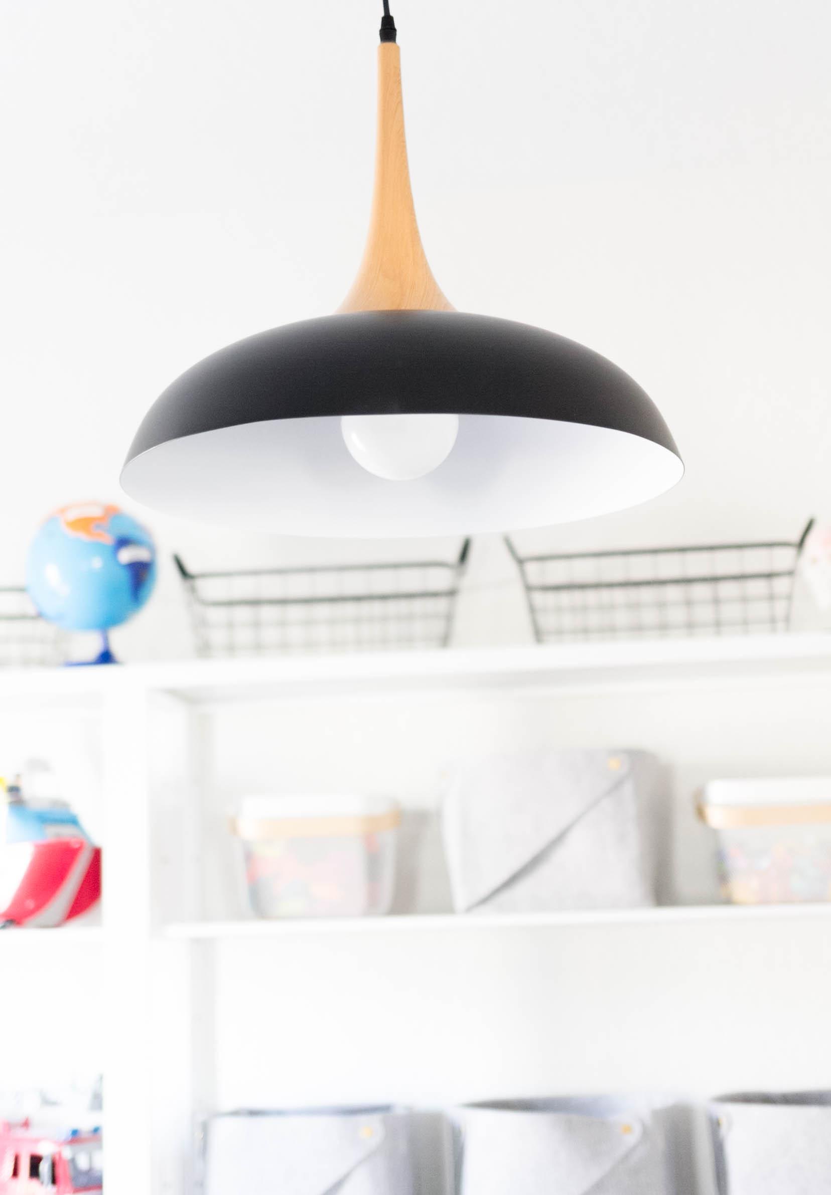 Lamps Plus Felton Black Aluminum and Wood 17 3/4