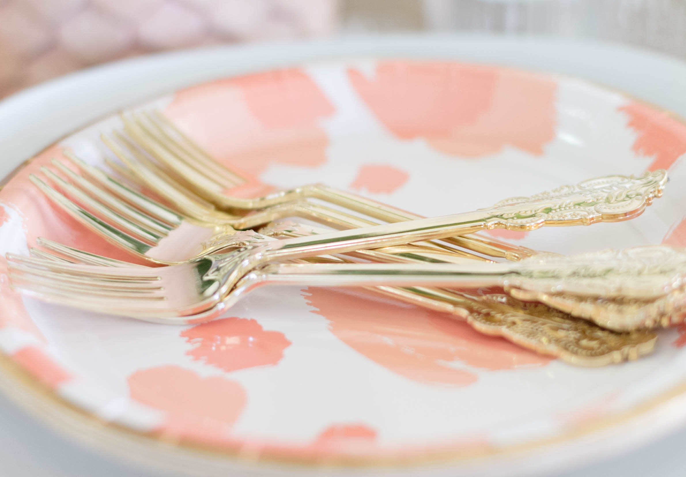 Entertaining: Valentine's Day Tablescape, Pink, White & Gold, Mixed Patterns (Budget Decorating) by Iris Nacole.